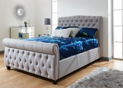 Sleigh Storage Bed Frame Double