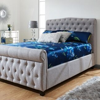Sleigh Storage Bed Frame King