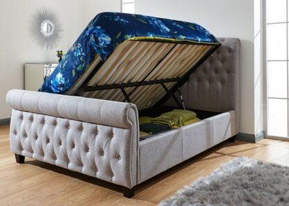 Sleigh Storage Bed Frame King