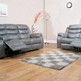 Vista Grey LeatherAir Sofa Set