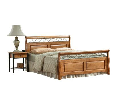 Duke Wooden Bed Double