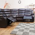 Recliner Corner Sofa Black