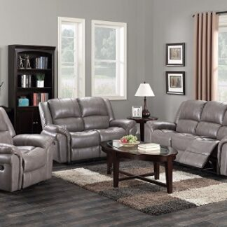 Leather Grey Sofa Set (3+2)