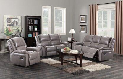 Leather Grey Sofa Set (3+2)