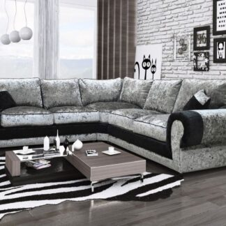 Tango Grey and Black Corner Sofa