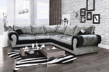 Tango Grey and Black Corner Sofa