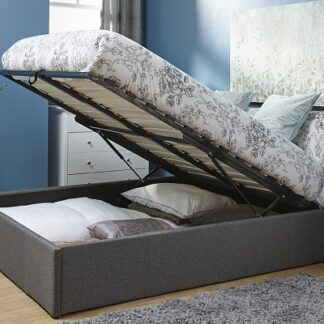 End Lift Ottoman Bed Frame Grey Single