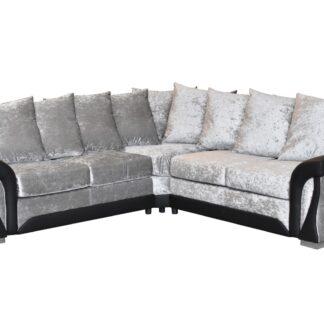 Shannon Corner Sofa (2Crn2) Crushed Velvet