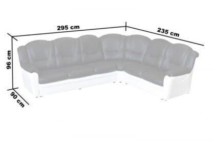 Texas Black/White Faux Leather Corner Sofa