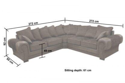 Tango Brown Fabric Corner Sofa