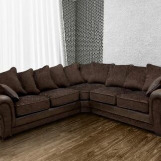 Tango Brown Fabric Corner Sofa