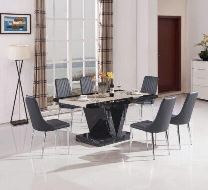 Boni Dining Table Black 4 Chairs