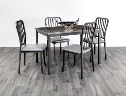 Ruby Grey Dining Set 4 Chairs