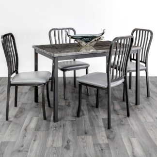 Ruby Grey Dining Set 6 Chairs