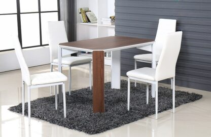 Raja 110 Brown Dining Set 4 Chair