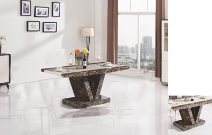 Boni Dining Table Brown 4 Chairs
