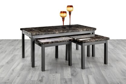 LUCY (1+2) BLACK COFFEE TABLE