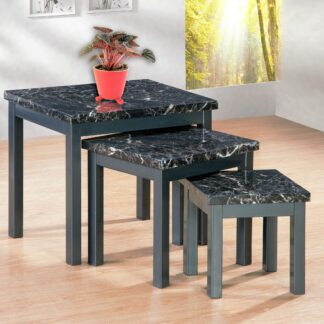 LUCY BLACK NEST OF TABLES