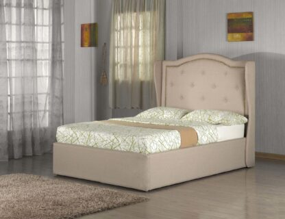 WARM- BED FRAME (DOUBLE) LIGHT BROWN