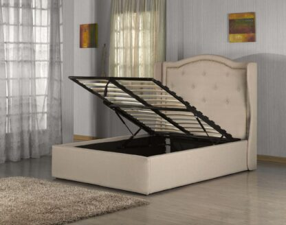 WARM- BED FRAME (KING) LIGHT BROWN