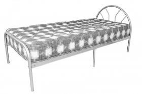 Morning Sun Single Metal Bed Silver