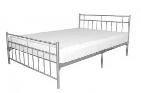 Davina Metal Bed Single Silver