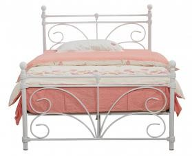 Separo White Metal Bed Frame