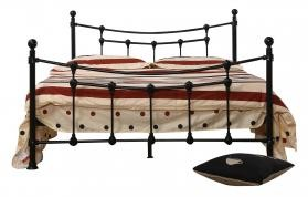 Surrey Double Metal Bed Frame Black
