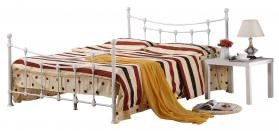 Surrey Double Metal Bed Frame White