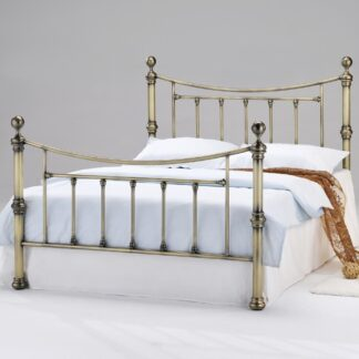 Chorlotte Antique Brass King Size Bed Frame