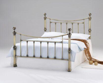Chorlotte Antique Brass King Size Bed Frame