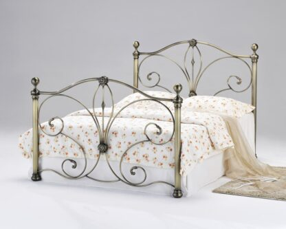 Diane Antique Brass Double Bed Frame