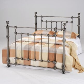 Elanor Black Nickle King Size Bed Frame